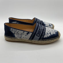 Load image into Gallery viewer, Dior Navy Print Espadrilles
