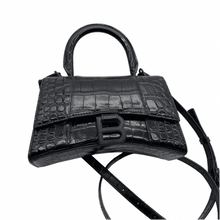 Load image into Gallery viewer, Balenciaga Black on Black Hourglass Bag