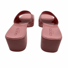 Load image into Gallery viewer, Gucci Pink Rubber Sandals
