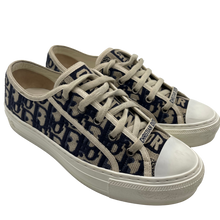 Load image into Gallery viewer, Dior Monogram Blue& White Print Sneakers
