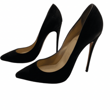 Load image into Gallery viewer, Christian Louboutin Black Suede Heel