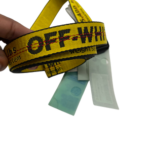 Off- White Yellow/Black Unisex Belt