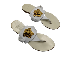 Load image into Gallery viewer, Versace Leather White Thong Sandals
