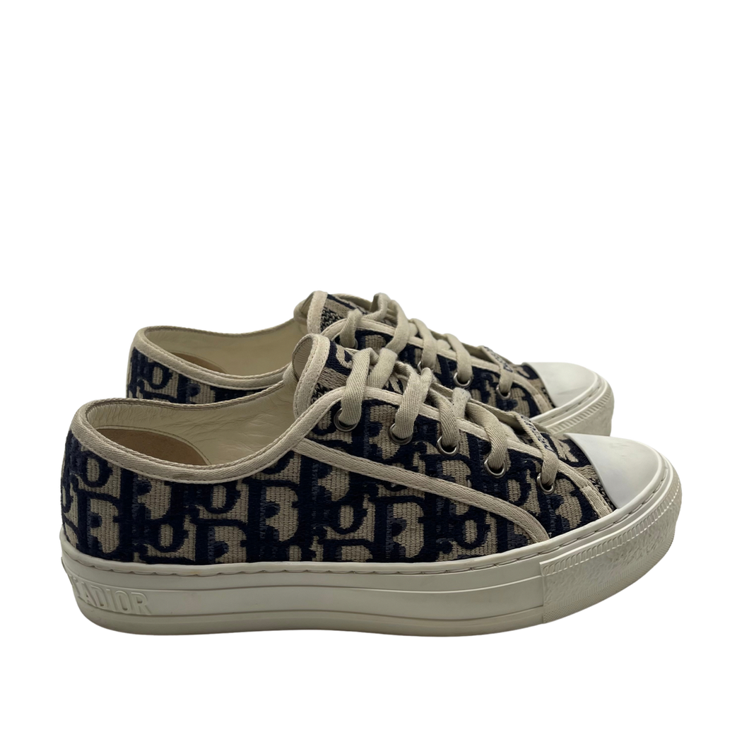 Dior Monogram Blue& White Print Sneakers