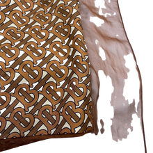 Load image into Gallery viewer, Burberry Brown Silk Skirt