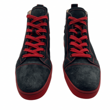 Load image into Gallery viewer, Christian Louboutin Black/Red HighTop Sneaker