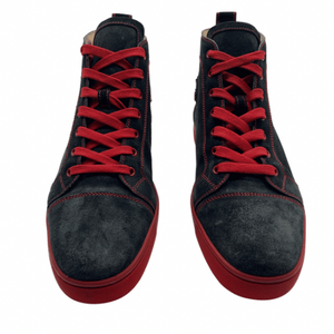 Christian Louboutin Black/Red HighTop Sneaker