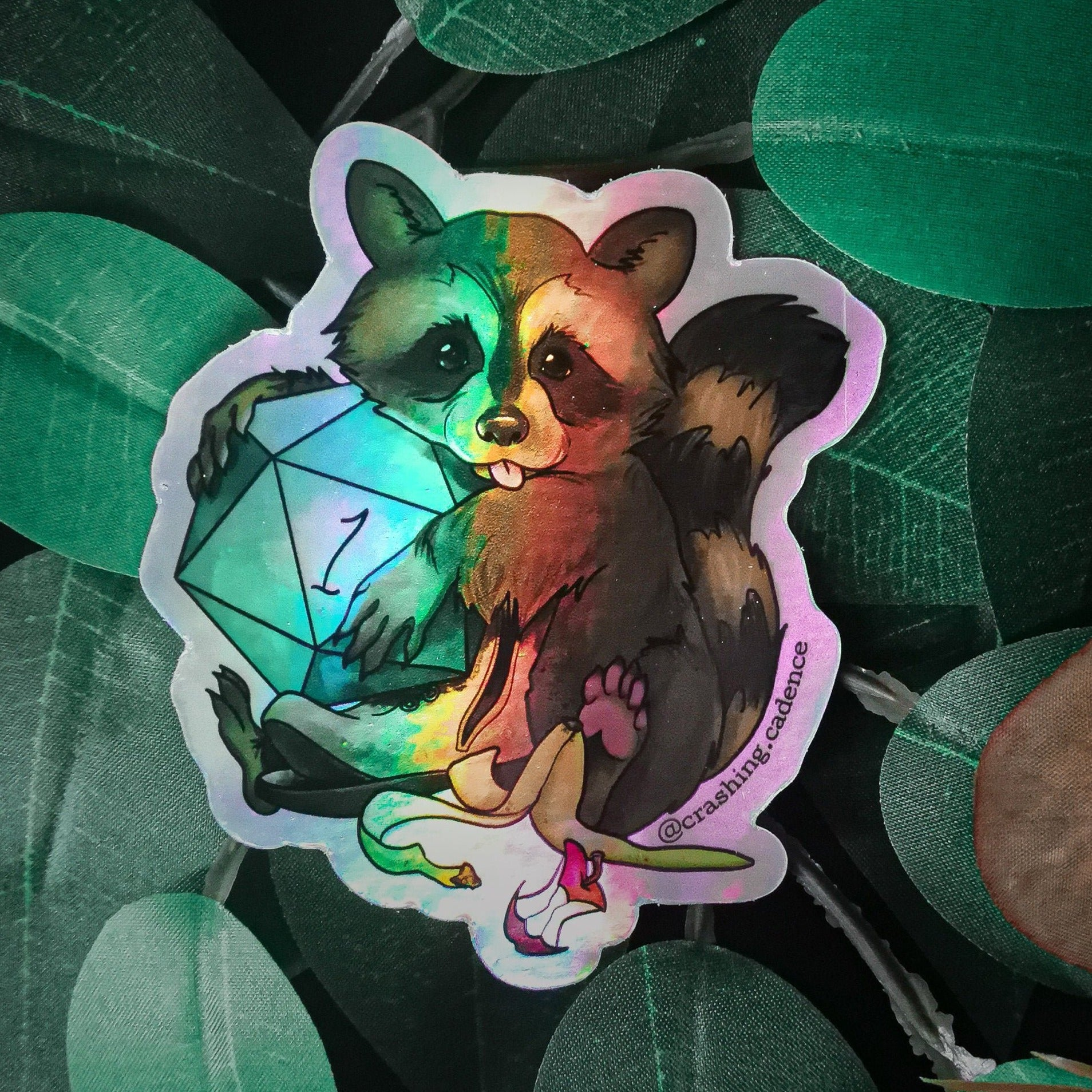 Holographic Vinyl Sticker - Rolling Trash