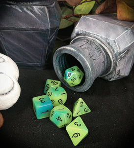 Glow in the Dark 7 Piece Polyhedral Dice Set