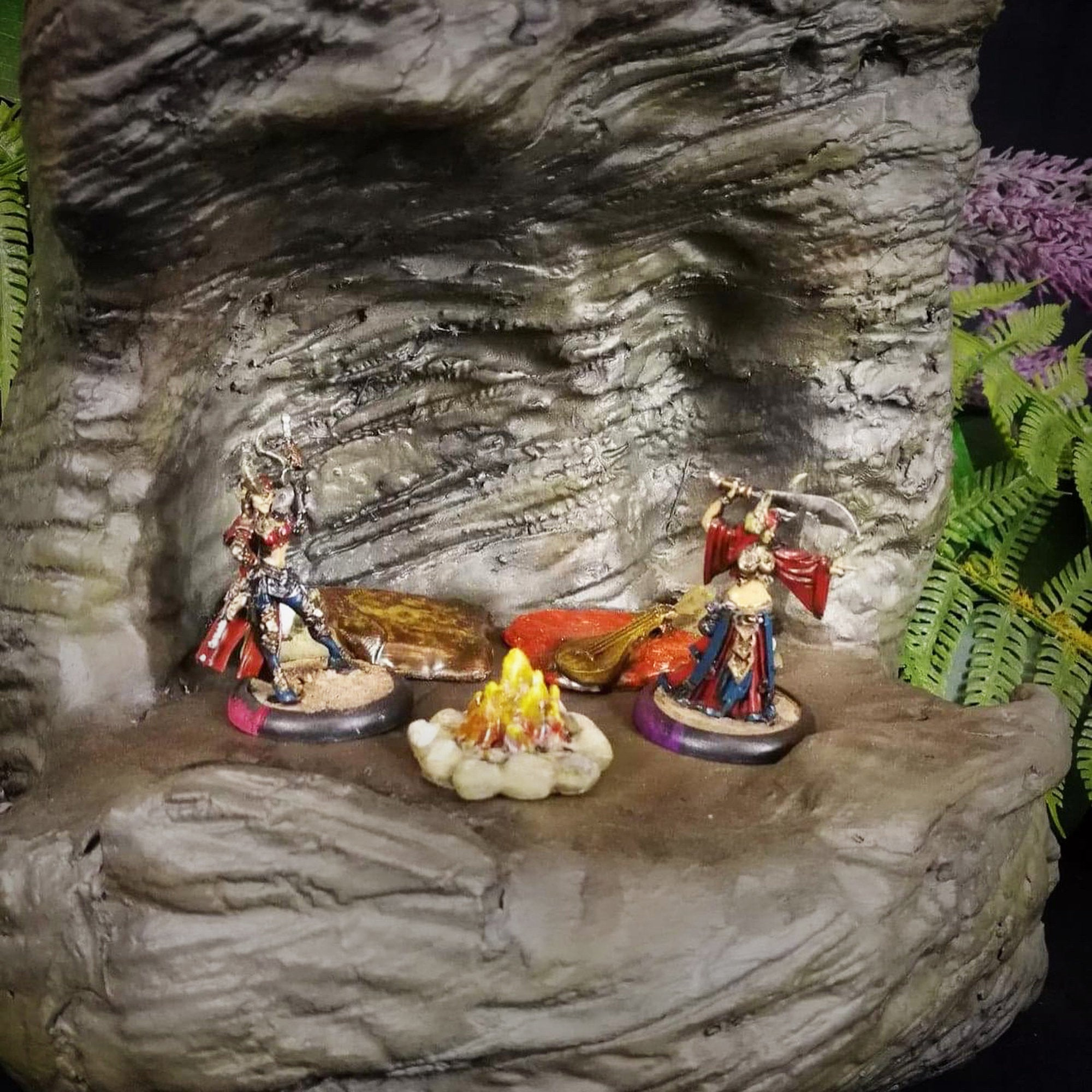 Cliffside Themed DnD Mini Fig Display
