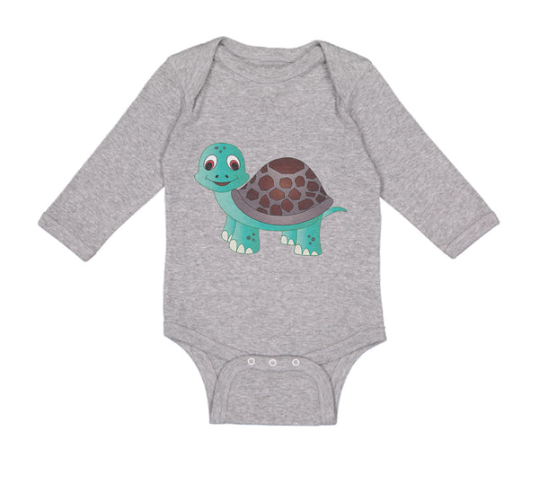 Cute Turtles in Love Shoulder Bodysuits as picture12 Months