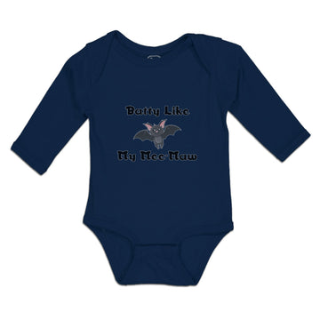 Long Sleeve Baby Bodysuit Pipistrelle Batty My Mee-Maw Flying Night