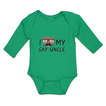 Long Sleeve Bodysuit Baby I Love My Gay Uncle Boy & Girl Clothes Cotton