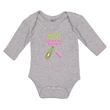 Long Sleeve Bodysuit Baby Uncle Mike's Drinking Buddy Boy & Girl Clothes Cotton