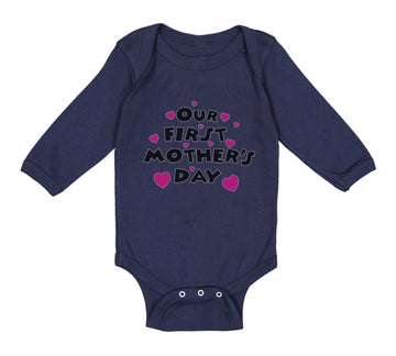 Long Sleeve Bodysuit Baby Our First Mother's Day Boy & Girl Clothes Cotton