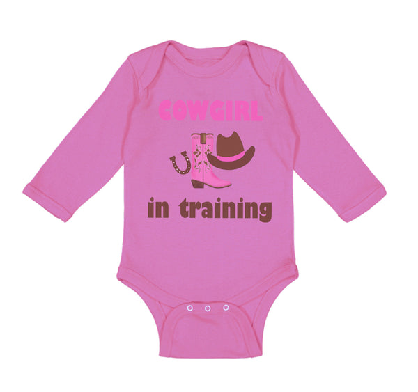 Long Sleeve Bodysuit Baby Cowgirl in Training Western Style C Boy & Girl Clothes - Cute Rascals