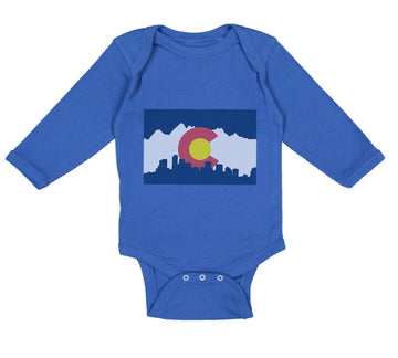 Long Sleeve Bodysuit Baby Colorado Flag Valentines Love Boy & Girl Clothes