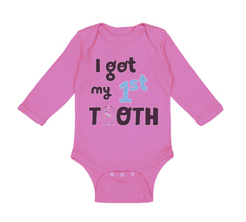Long Sleeve Bodysuit Baby I Got My First Tooth Funny Humor Style C Cotton