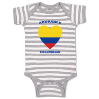 Baby Clothes Adorable Colombian Heart Countries Baby Bodysuits Boy & Girl Cotton
