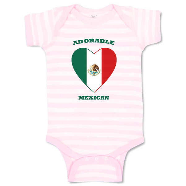Cotton Boy & Girl Baby Bodysuit Adorable Mexican Heart Countries Funny