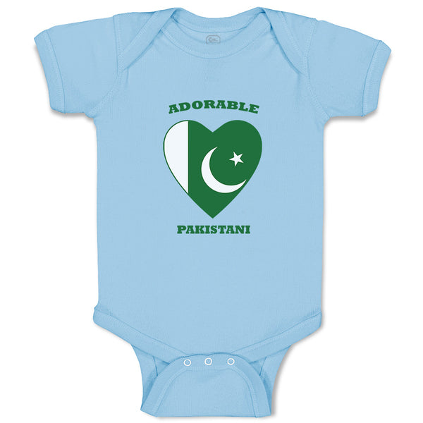 Baby Clothes Adorable Pakistani Heart Countries Baby Bodysuits Boy & Girl Cotton