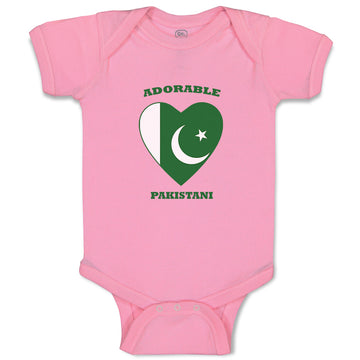 Boy & Girl Baby Bodysuit Adorable Pakistani Heart Countries Funny