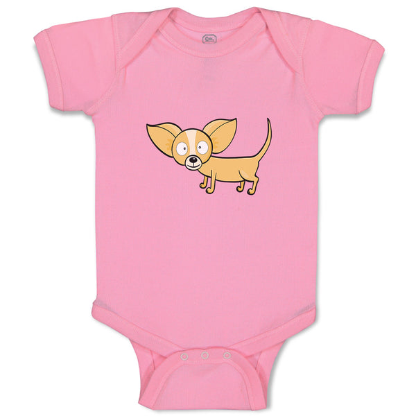 Cotton Boy & Girl Baby Bodysuit Chihuahua Dog Lover Pet Funny Clothes
