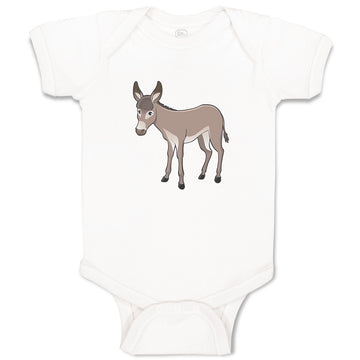 Cotton Boy & Girl Baby Bodysuit Donkey Farm Animals Funny Clothes