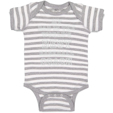 Boy & Girl Baby Bodysuit My Dad World's Best Baseball Coach Ball Game