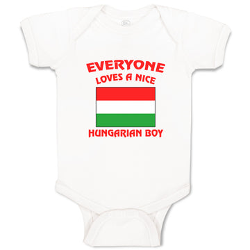 Baby Clothes Everyone Loves A Nice Hungarian Boy Countries Baby Bodysuits Cotton
