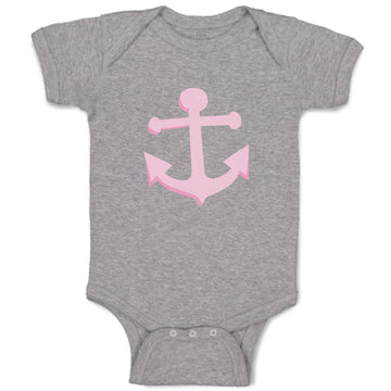 Cotton Baby Girl Bodysuit Anchor Sailing Light Pink Funny Clothes