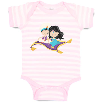 Cotton Boy & Girl Baby Bodysuit Aladdin Jasmine Funny Striped Clothes