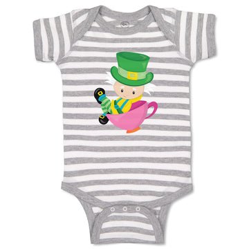 Cotton Boy & Girl Baby Bodysuit The Mad Hatter Characters Others Funny