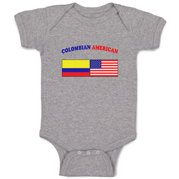 Boy & Girl Baby Bodysuit Colombian American Countries Funny Clothes