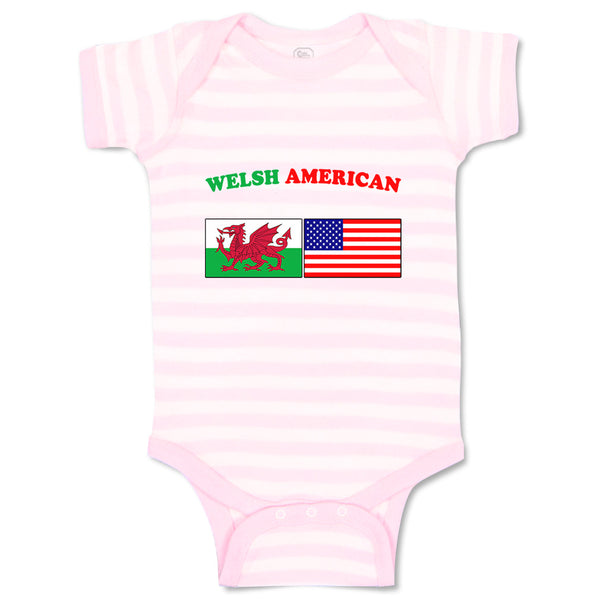 Baby Clothes Welsh American Countries Baby Bodysuits Boy & Girl Cotton