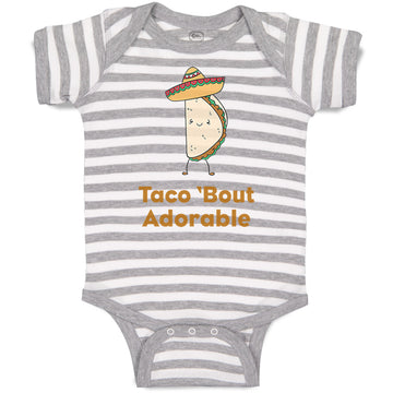 Cotton Boy & Girl Baby Bodysuit Taco 'Bout Adorable Funny Humor