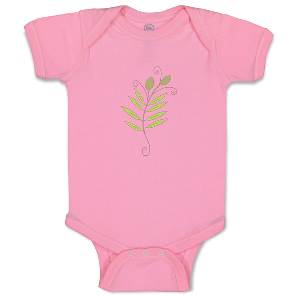 Boy & Girl Baby Bodysuit Olive Branch 2 Food and Beverages Herbs Funny