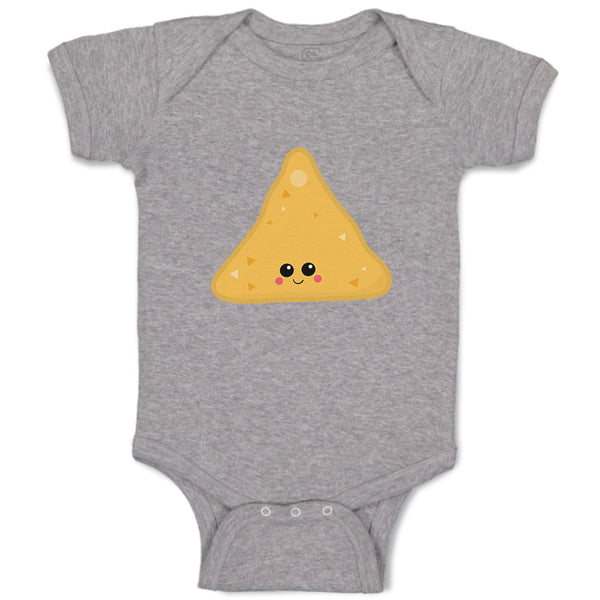 Cotton Boy & Girl Baby Bodysuit Nachos Food and Beverages Others Funny