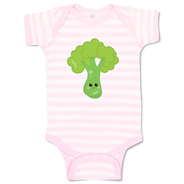 Boy & Girl Baby Bodysuit Broccoli Food and Beverages Vegetables Funny