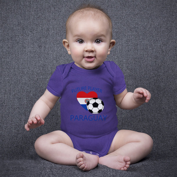 Boy & Girl Baby Bodysuit Future Soccer Player Paraguay Funny Clothes