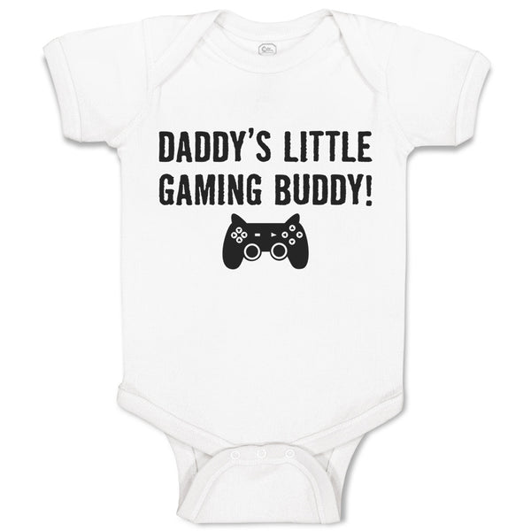 Baby Clothes Daddy's Little Gaming Buddy Dad Father's Day Baby Bodysuits Cotton