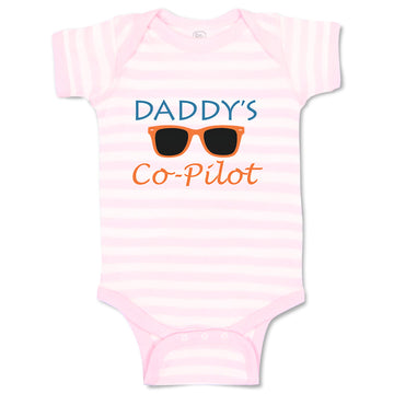 Boy & Girl Baby Bodysuit Daddy's Co-Pilot Family Friends Dad Funny