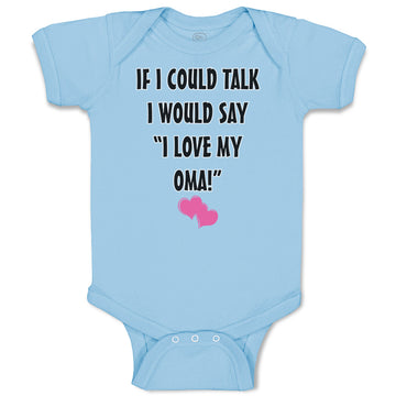 Boy & Girl Baby Bodysuit Talk Say Love My Oma Grandmother Grandma