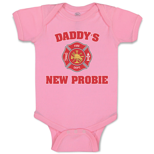 Baby Clothes Daddy's New Probie Cop Police Baby Bodysuits Boy & Girl Cotton