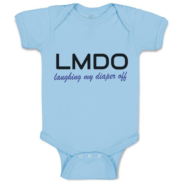 Boy & Girl Baby Bodysuit Lmdo Laughing My Diaper off Funny Humor