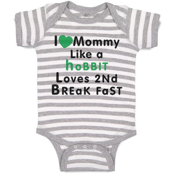 Baby Clothes Love Mommy like Hobbit Loves 2 Breakfast Baby Bodysuits Cotton