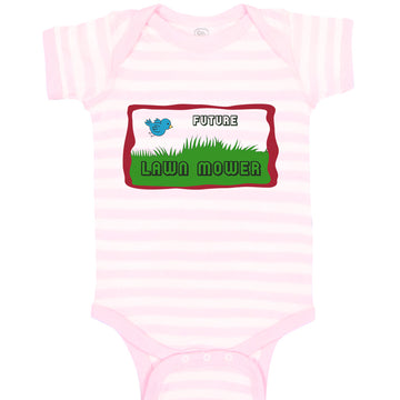 Boy & Girl Baby Bodysuit Future Lawn Mower Picture of A Blue Bird