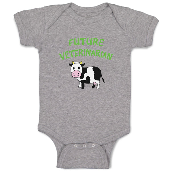 Boy & Girl Baby Bodysuit Future Veterinarian Profession Funny Clothes