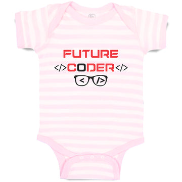 Boy & Girl Baby Bodysuit Future Coder Geek Coding Funny W, Oxg, Lb, Sp