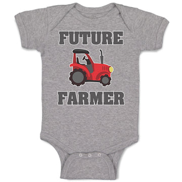 Boy & Girl Baby Bodysuit Future Farmer Farming Style B Funny Clothes